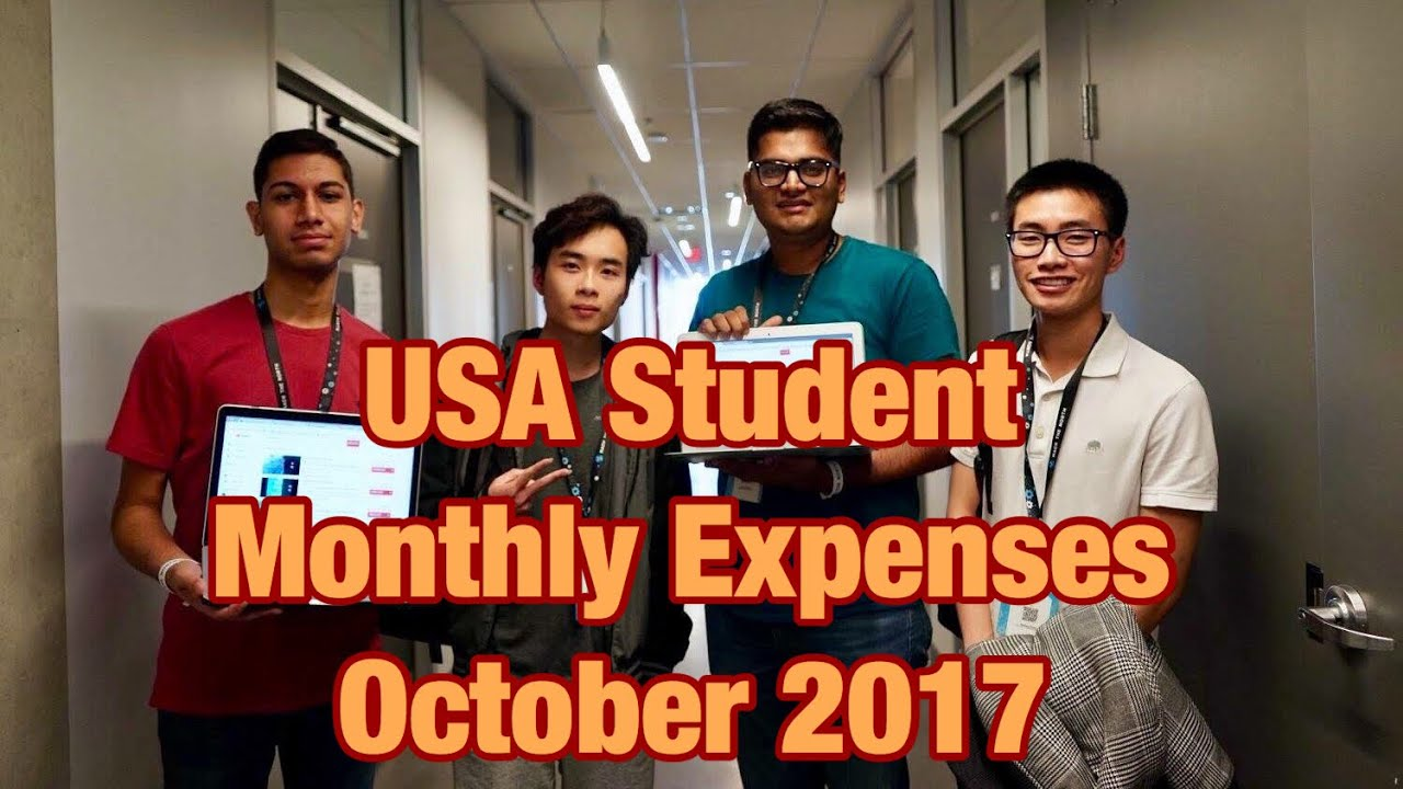 USA Monthly Expenses (October 2017) | Study in USA | That Indian Guy