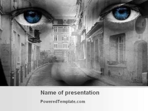 Free Desert Flower PowerPoint Template by PoweredTemplatecom