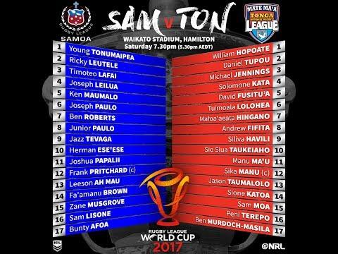 MATE MA'A TONGA vs TOA SAMOA: Players with supporters