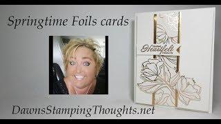 Springtime Foils cards