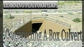 CONSTRUCTING A BOX CULVERT - YouTube
