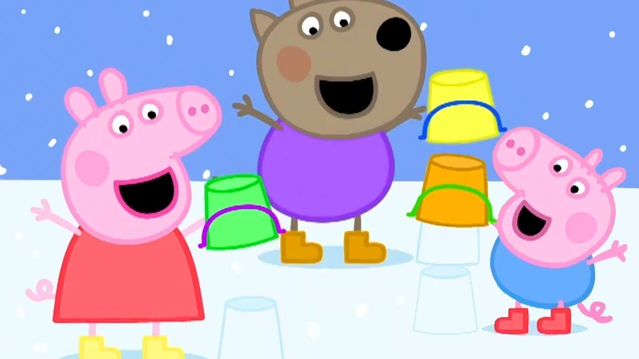 Peppa Pig in Hindi - Snow - Barf - हिंदी Kahaniya - Hindi Cartoons for Kids