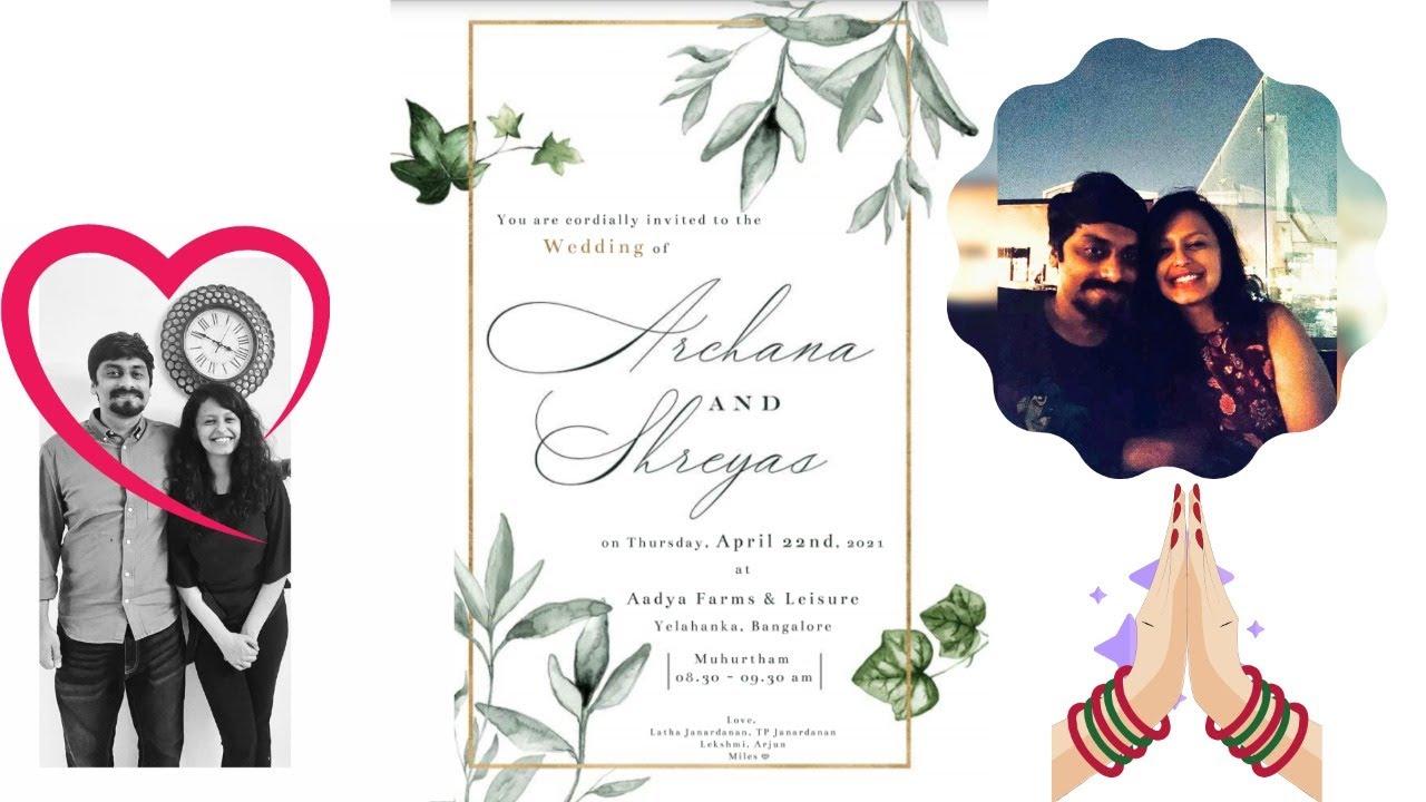Welcome to the Wedding of Archana and Shreyas *LIVE*
