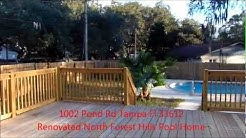 1002 Pond Rd Tampa Fl 33612 Beautifully Renovated Forest Hills Tampa Real Estate video