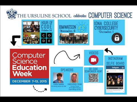 The Ursuline School participates in Computer Science Education Week 2015