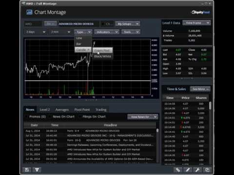 EquityFeed Chart Montage - Stock Charts, Level 2 Time & Sales, Company Statistics, and More.