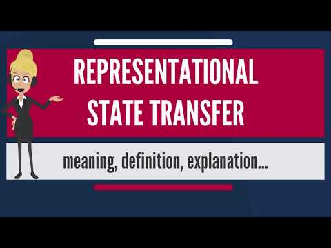 What is REPRESENTATIONAL STATE TRANSFER? What does REPRESENTATIONAL STATE TRANSFER mean?