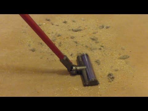 Demo, Part 2 - Dyson V8 Total Clean cordless handstick vacuum - dirt pickup tests