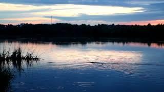 Закат на реке Оке, лето 2017г.