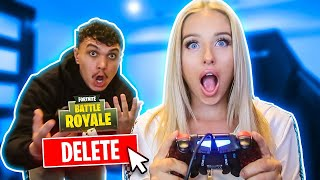 Deleting My boyfriends $1000 FORTNITE Account! *PRANK*