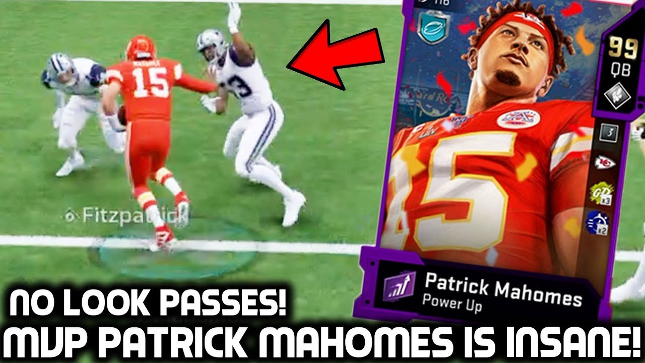 Super Bowl Mvp Patrick Mahomes Shreds Defenders Up Madden 20 Ultimate Team Youtube