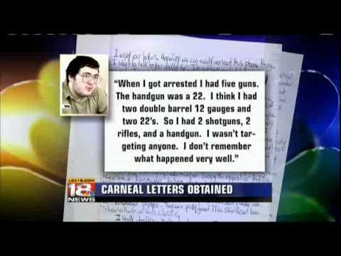 Murderabilia - Serial KIllers Ink in the News - Lexington, KY NBC - Michael Carneal letter