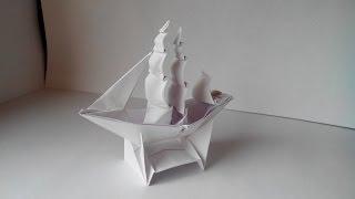Как сделать кораблик из бумаги (Origami Ship)(Бумага: офисная А3, 80г/м²; Пропорции: делаем квадрат из листа A3; Схема: Full-Rigged Ship; Автор: Patricia Crawford. На видео..., 2014-06-01T17:40:13.000Z)