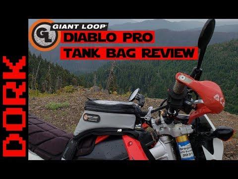Giant Loop Diablo Pro Tank Bag Review: The Best Dual Sport/Adventure Motorcycle Tank Bag?
