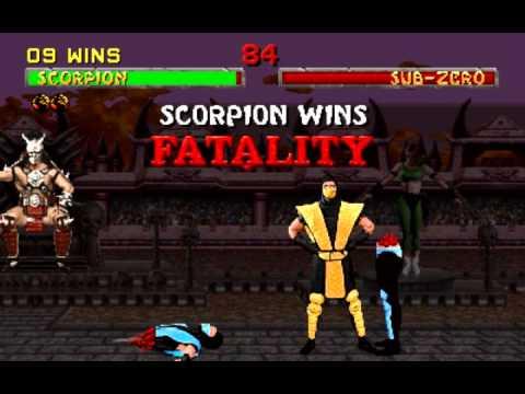 Mortal Kombat 2 - Scorpion Arcade playthrough