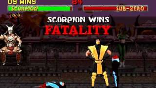 Mortal Kombat 2 Scorpion Arcade Playthrough