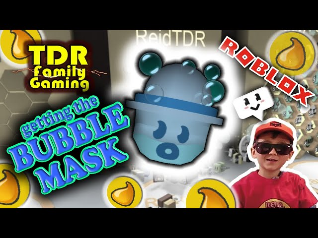 Getting The Bubble Mask Bee Swarm Simulator Roblox Youtube