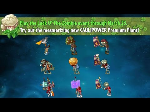 Plants vs. Zombies 2 - Caulipower with new Zombies
