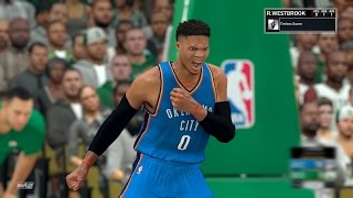 nba 2k17 play now 4k russell westbrook posters thunder ps4 pro