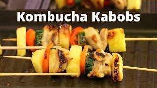 Delicious  Chicken Kabobs Marinated With Kombucha | Rockin Robin Cooks