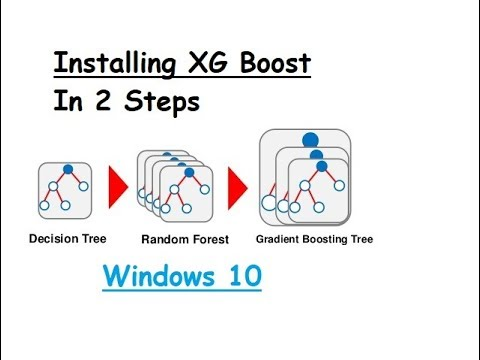 XG boost installation Fastest Way : Wndows10