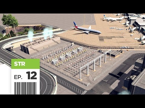 Cities Skylines: FBS International Airport — Part 12 — Power Plant