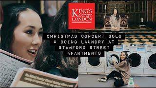 stamford street apartments tour & kings choral choir solo || kcl university vlog