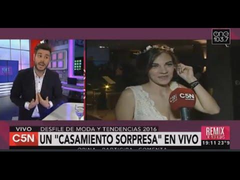 C5N - Moda: Propuesta de casamiento en vivo
