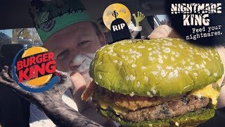 Burger King ☆NIGHTMARE KING☆ GREEN BUN BURGER Food Review!!!