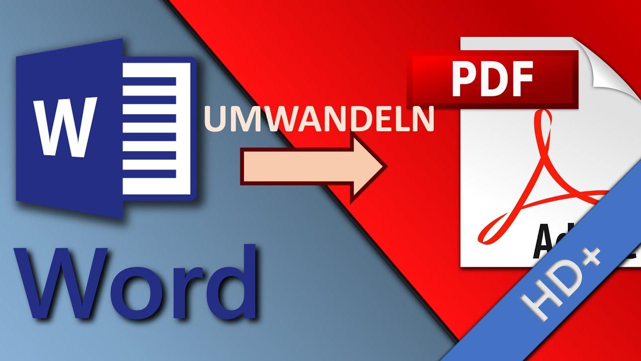 Word-Datei in PDF umwandeln - YouTube