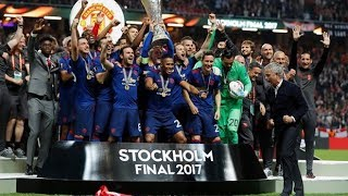 MANCHESTER UNITED CHAMPIONS UEL 2016-2017 CELEBRATION