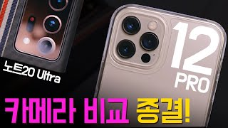 Comparing iPhone 12 Pro vs Galaxy Note 20 Ultra CAMS (Expecting more on Pro Max and Mini)