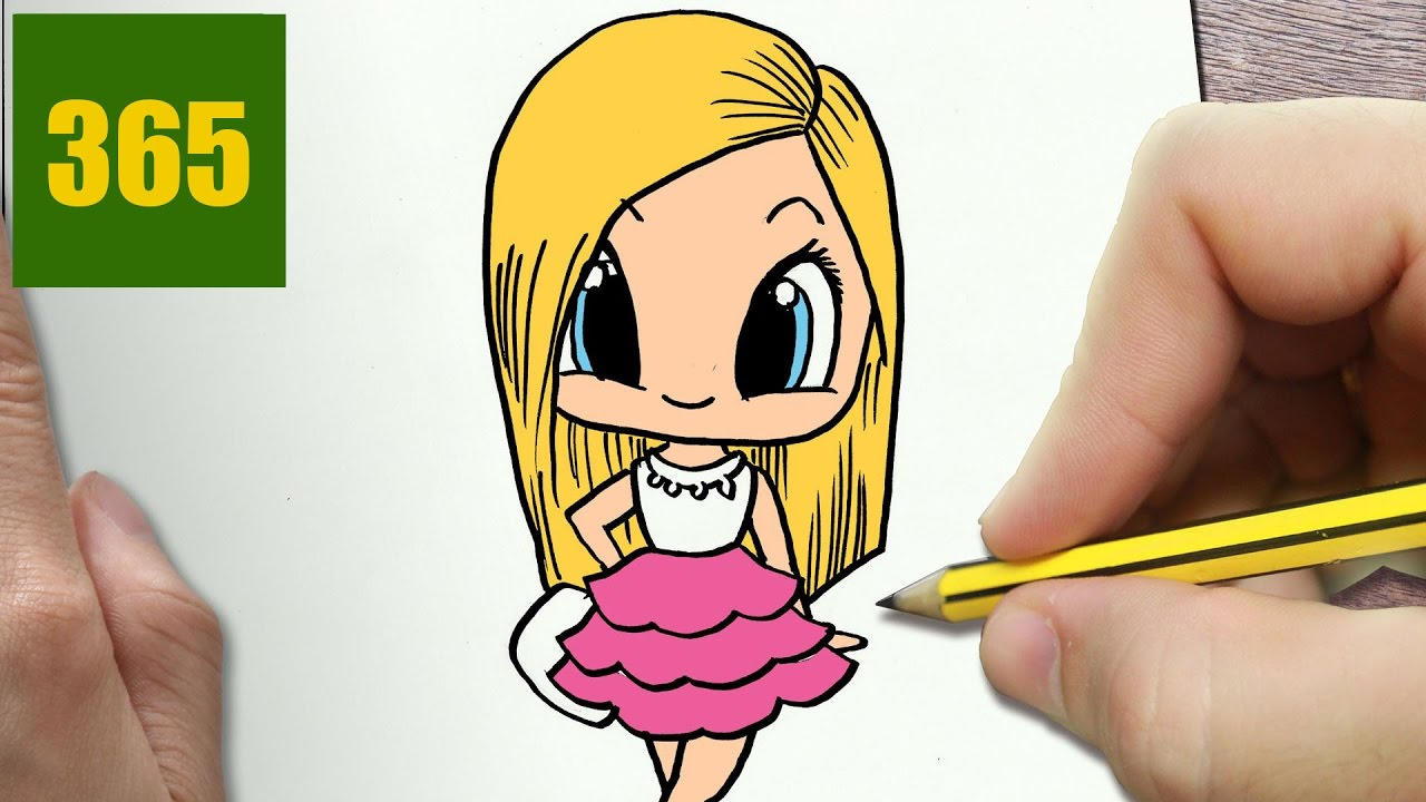 Comment Dessiner Barbie Kawaii étape Par étape Dessins Kawaii Facile