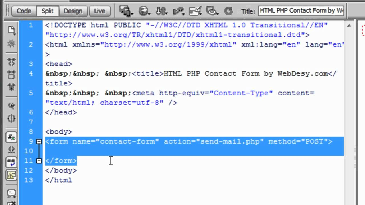 How to Create an HTML/PHP Contact Form (part one) - YouTube