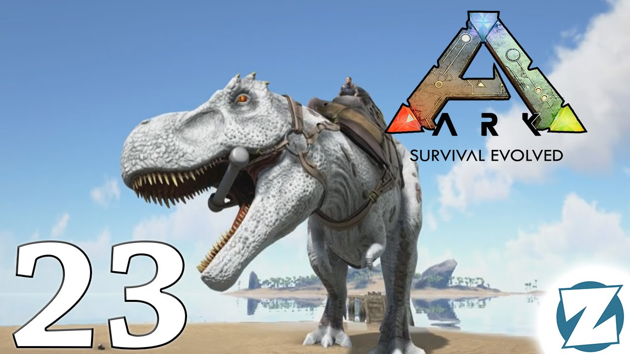 ARK Survival Evolved Gameplay - Taming an Albino T-Rex ...