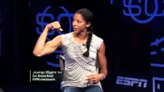 Candace Parker Flexing Biceps