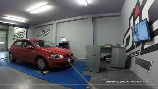 VW Golf 6 2.0 tdi 110cv Reprogrammation Moteur @ 181cv Digiservices Paris 77 Dyno