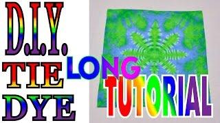 How To Tie Dye a Hemp Leaf [Long Tutorial] #41
