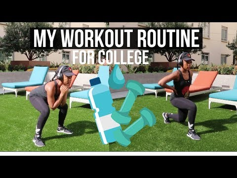 My College Fitness Routine! 💪🏾| Workouts to Stay Fit In College for Busy Students