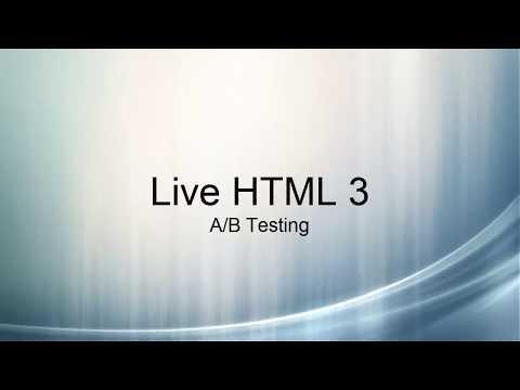 Live HTML: A/B Testing