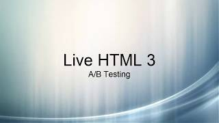 Live HTML: A/B Testing Mp3