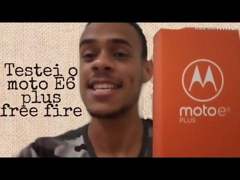 Review do Motorola moto E6 plus / testei ele no FREE FIRE