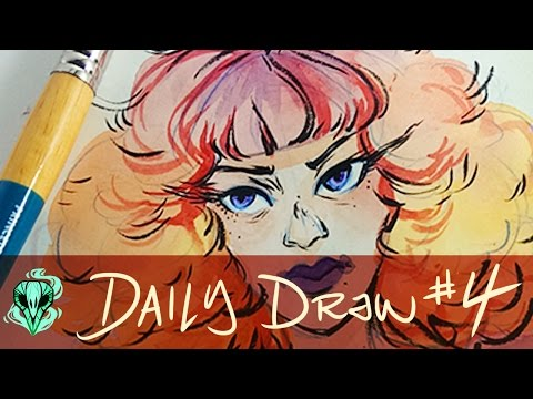 Daily Draw 4    Watercolor Girls