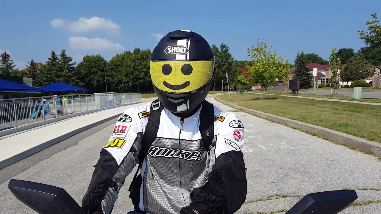 Review Motorcycle Helmet Visor Skin Lego Minifig Face YouTube - Motorcycle helmet visor decals