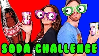 SODA CHALLENGE! Blindfolded Play Doh Googly Eyes - 11 Flavors in Surprise Cups
