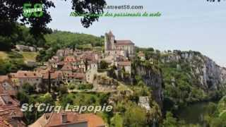 Roadbook moto Lot : Saint Cirq Lapopie