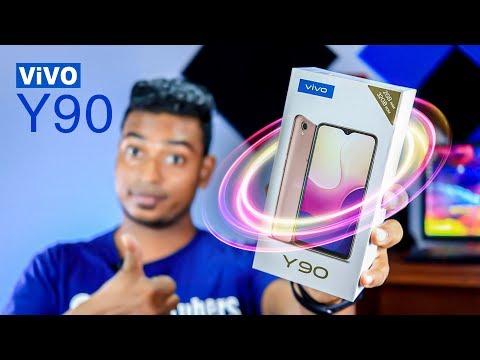 Vivo Y90 Unboxing   Y90 Quick Review Sinhala   Budget Smart Phone