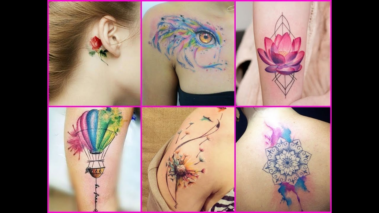Watercolor Wrist Tattoos For Women