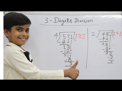 Basic division for kids || Basic division rules || 3 digits
