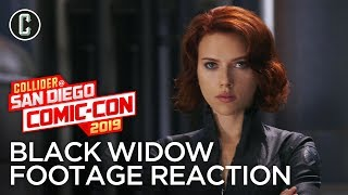 Black Widow Footage Reaction